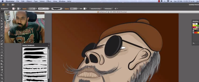 Speed painting desde el illustrator | Video