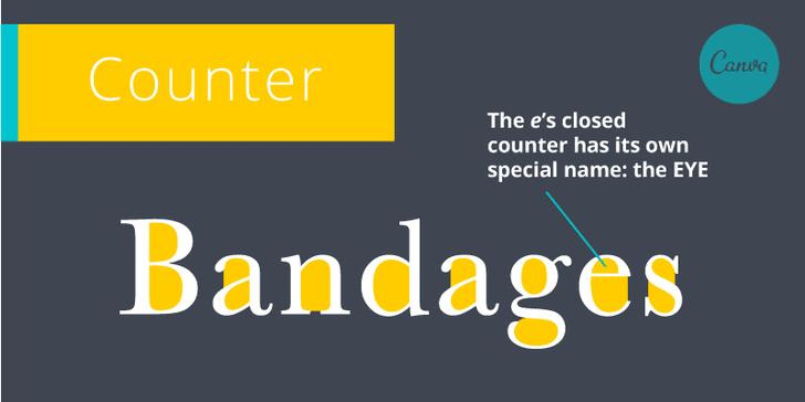Canva - El glosario illustrado de términos tipográficos necesario