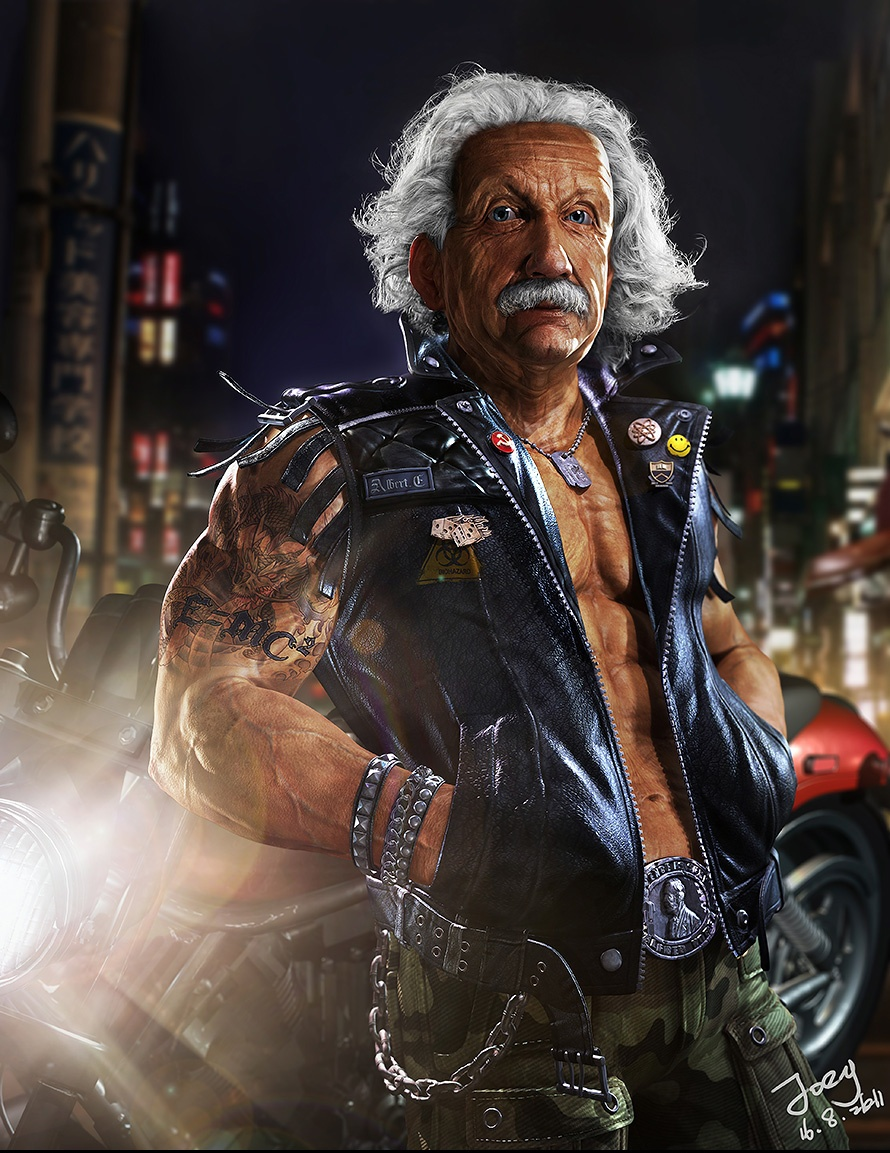 Albert-Einstein-sexy por-fan-zhang