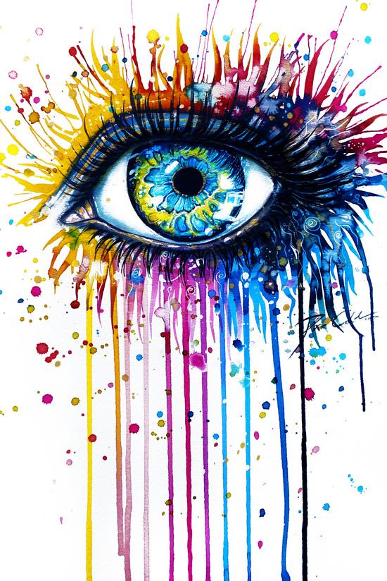 Rainbow Eye by PeeGeeArts Art Prints