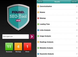 Found SEO Tool iPad 2