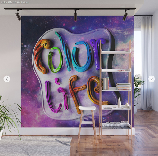 Wall mural Color life by Angel Decuir - Society6
