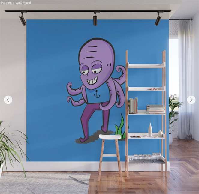 Wall Mural Pulpace by Angel Decuir - Society6