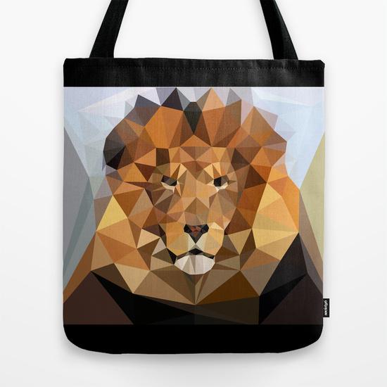Tote Bag - Lion Techy Art