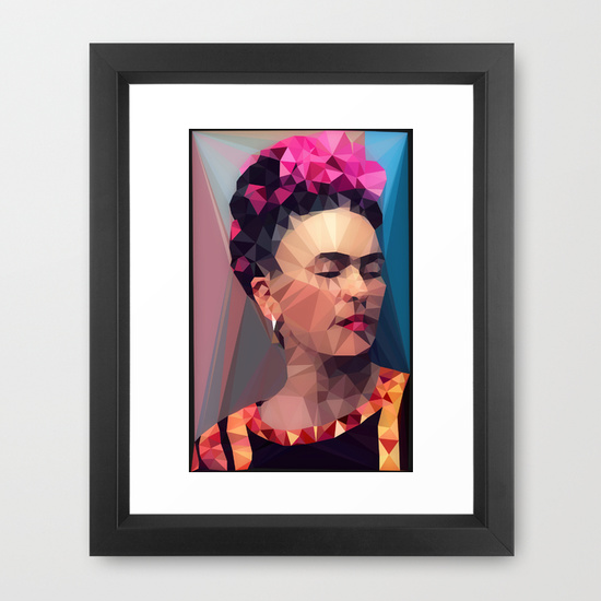 "FRAMED ART PRINT/ VECTOR BLACK MINI (10"" X 12"") Techy Fridart society6"