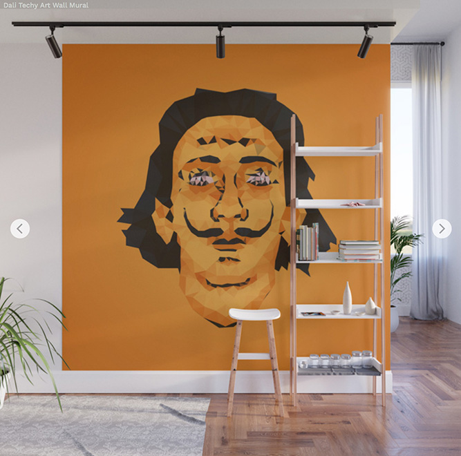 Wall Mural Techy art Salvador Dalí - Society6