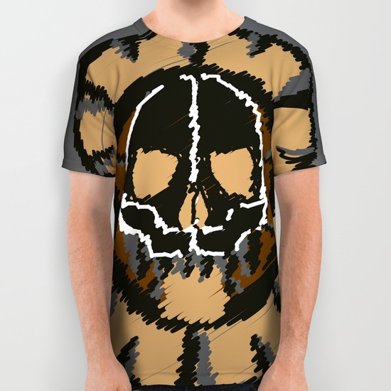 dead scribble all over print shirts