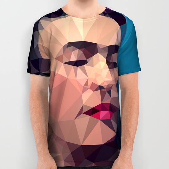 frida kahlo all over print shirts