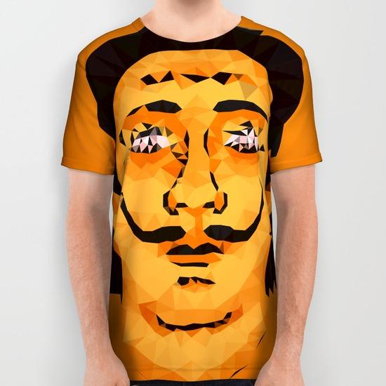 salvador dali all over print shirts