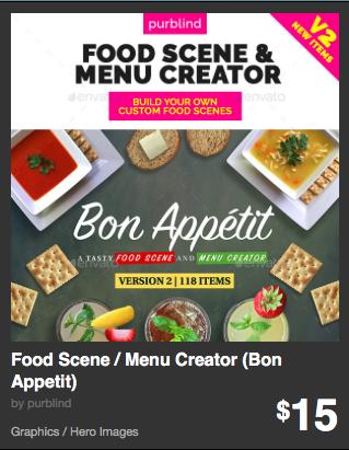 Food Scene - Menu Creator -Bon Appetit