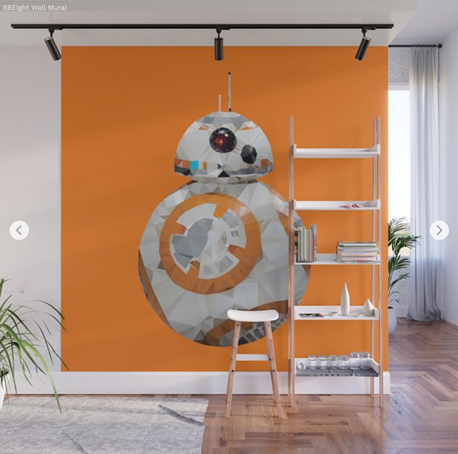 Wall Mural - BB8 By Angel Decuir - Society6