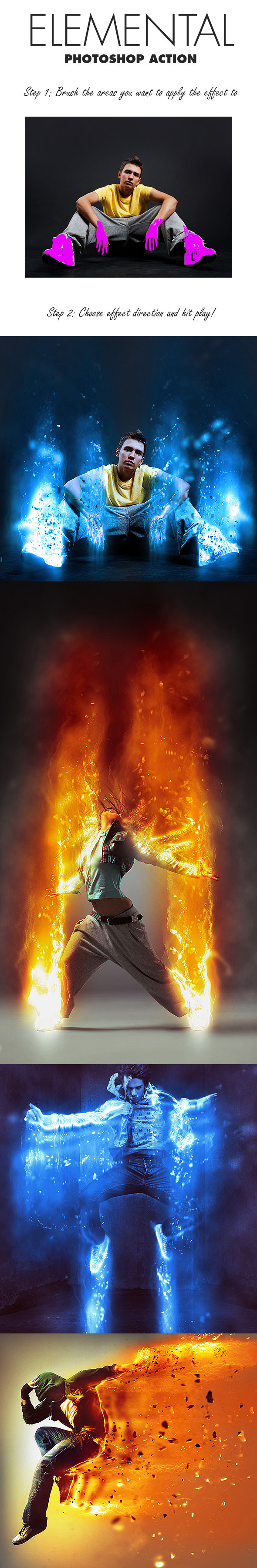 11-Elemental Photoshop Action