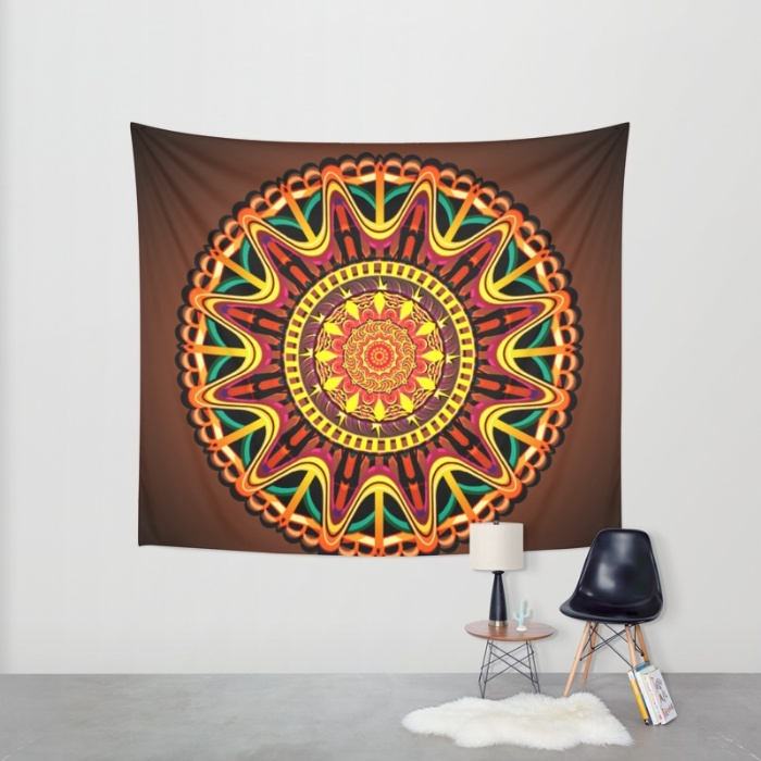 mandala-orange-zjv-tapestries
