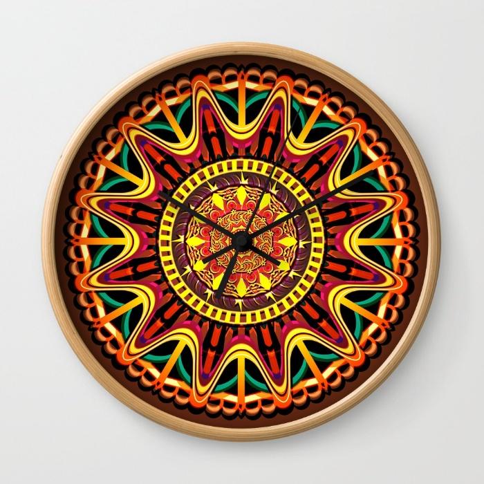 mandala-orange-zjv-wall-clocks