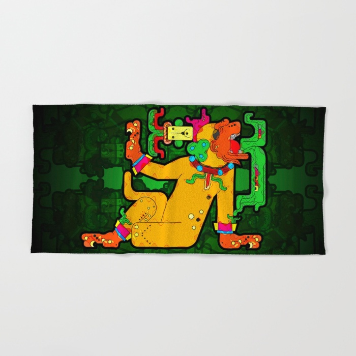 yaxchilan-maya-tiger-xf4-bath-towels