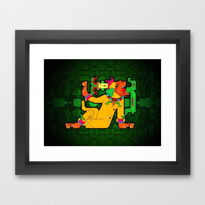 yaxchilan-maya-tiger-xf4-framed-prints