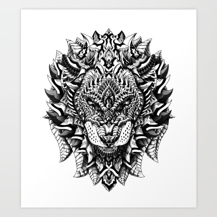 4-ornate-lion-prints