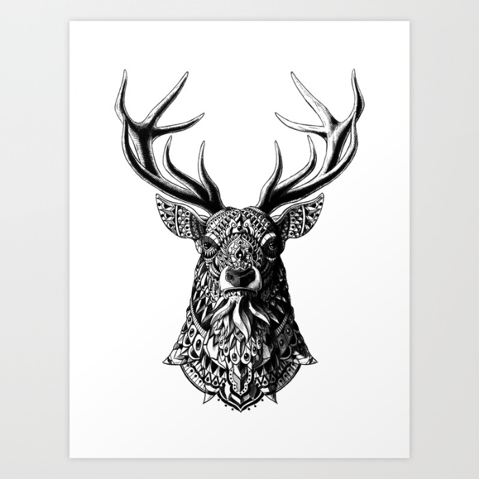 8-ornate-buck-prints