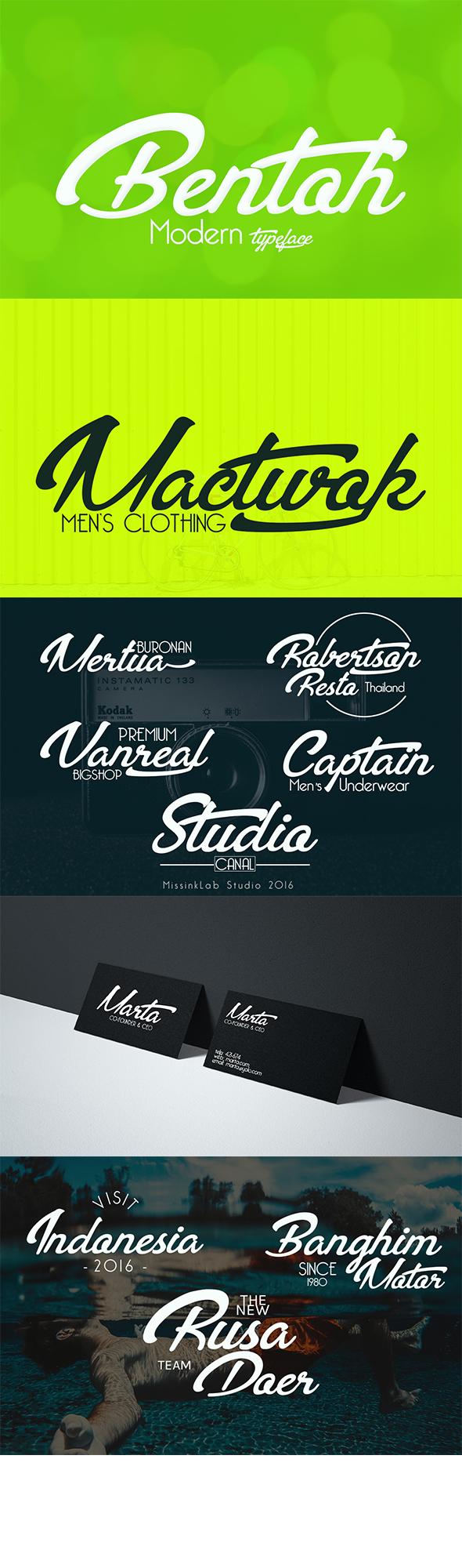 bentoh-modern-typeface