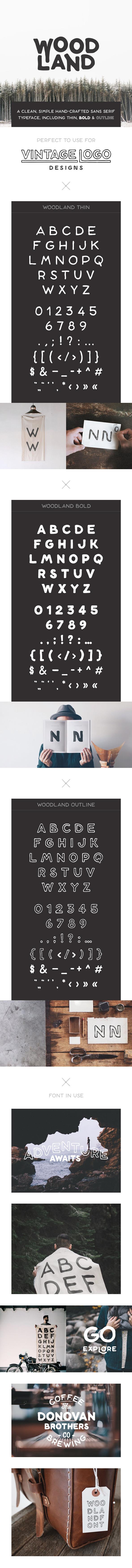 woodland-font