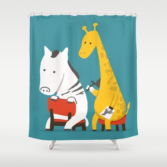9-zebra-tattoo-52i-shower-curtains