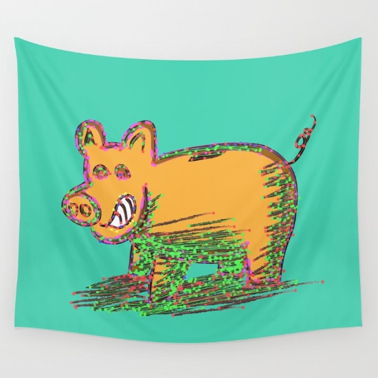 pig-vector-selection-tapestries