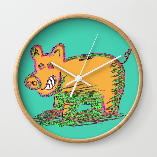 pig-vector-selection-wall-clocks