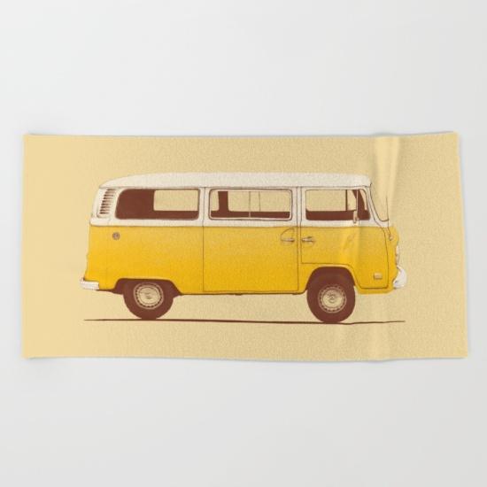 yellow-van-beach-towels