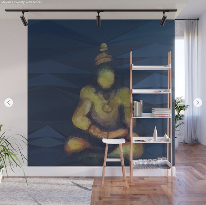 Wall Mural  Mayan Lowpoly by Angel Decuir | Society6