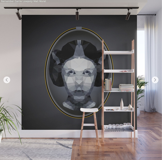Wall Mural Remember Carrie Lowpoly by Angel Decuir | Society6