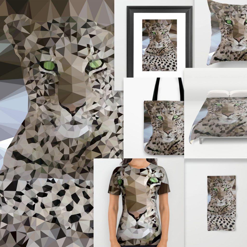 leopard lowpoly