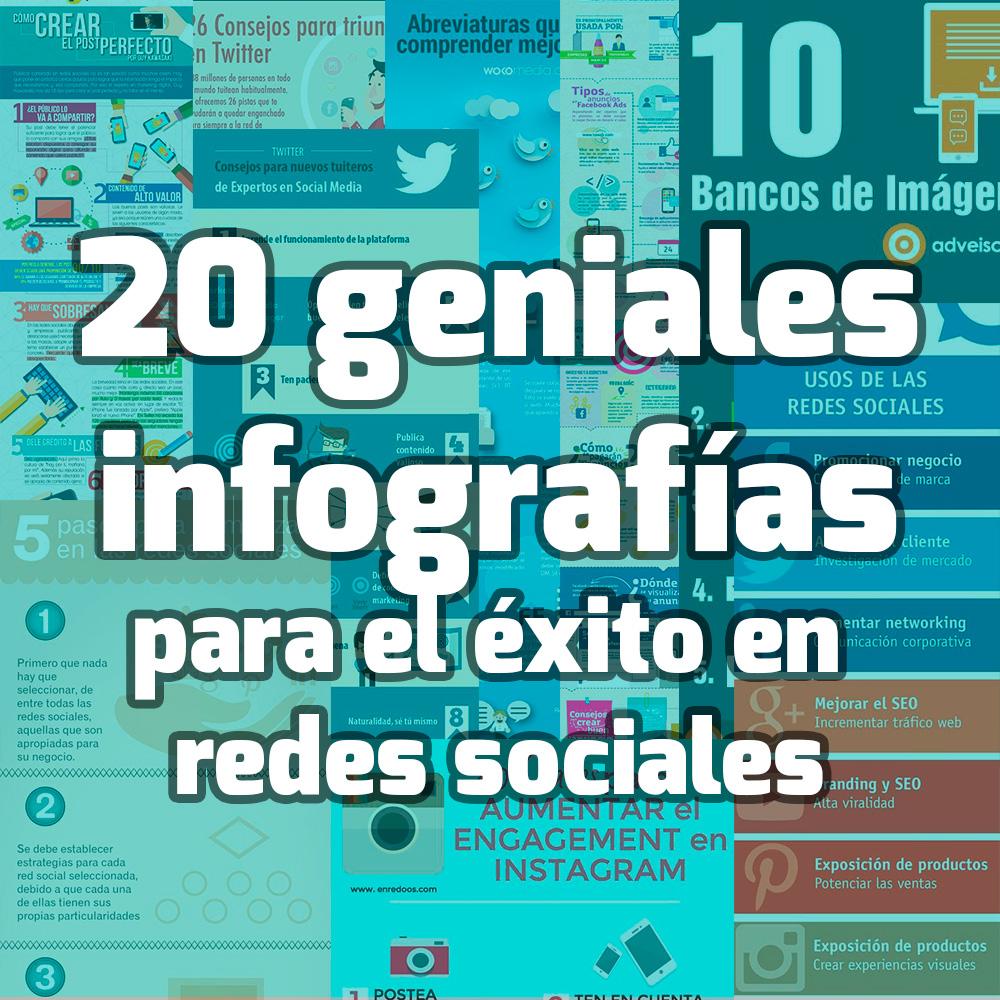 infografías redes sociales