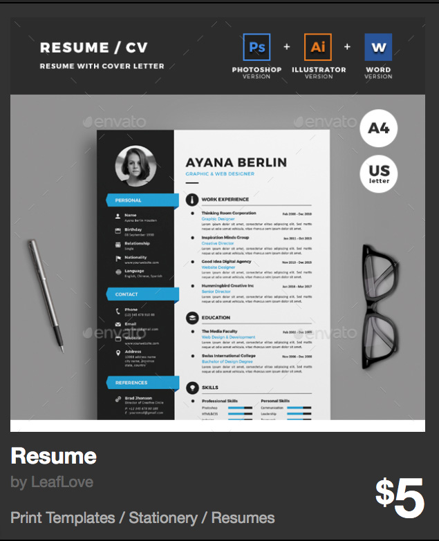 Resume by LeafLove - GraphicRiver