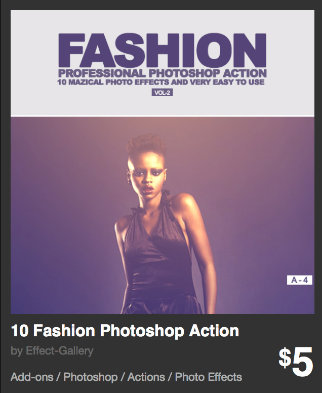 Actions para photoshop - fashion