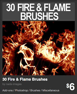 30 Fire & Flame Brushes by nada-images