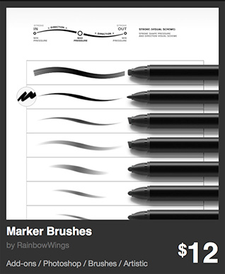 Marker Brushes by RainbowWings