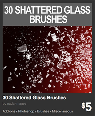 30 Shattered Glass Brushes by nada-images
