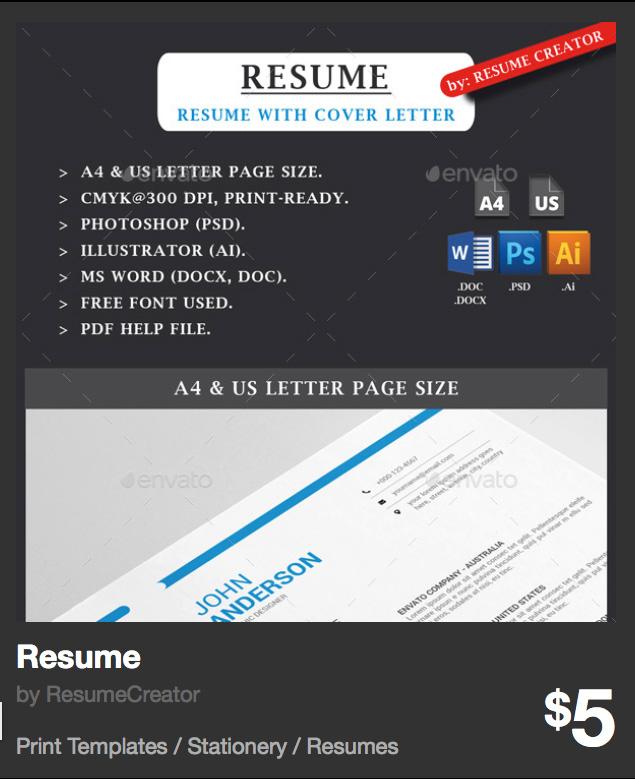 Resume by ResumeCreator | GraphicRiver