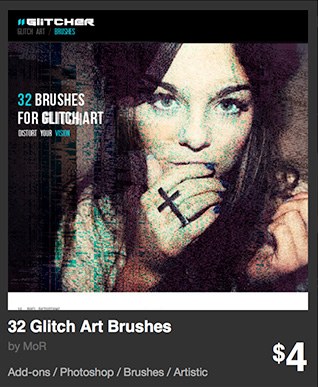 32 Glitch Art Brushes by MoR