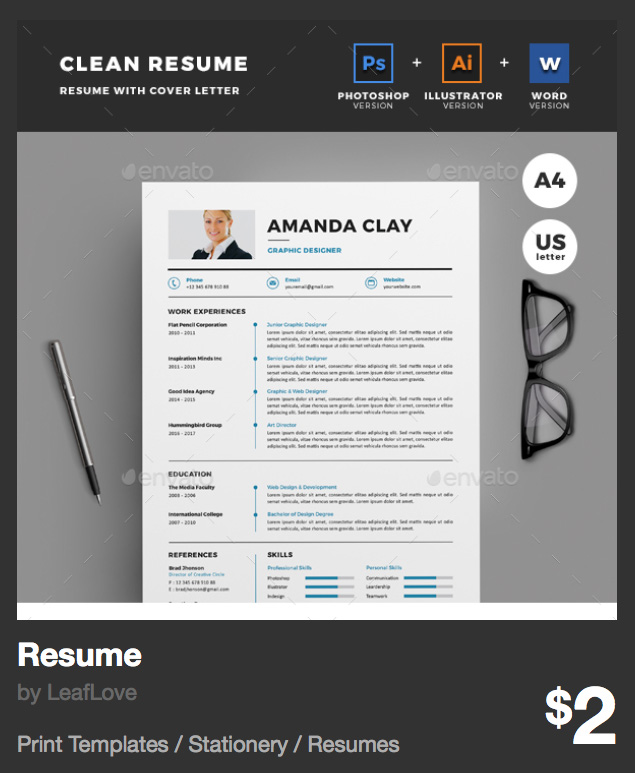 Resume by LeafLove | GraphicRiver