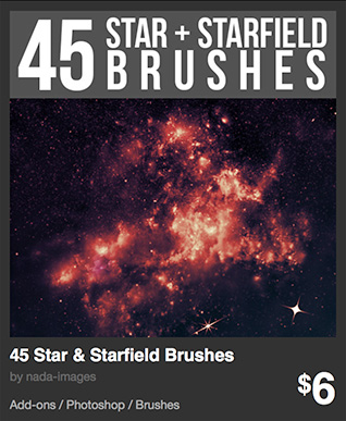 45 Star & Starfield Brushes by nada-images