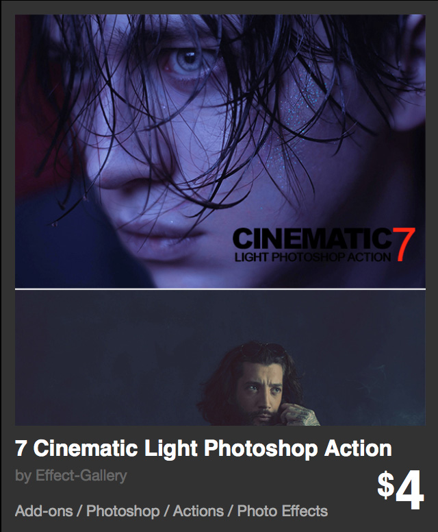 7 Cinematic light Photoshop Action
