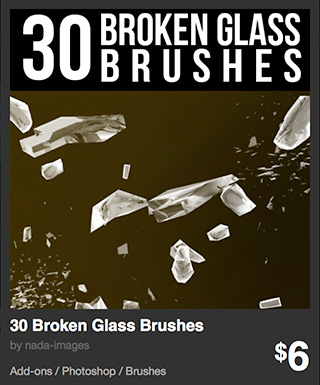 30 Broken Glass Brushes by nada-images