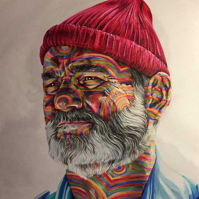 Bill Murray as Steve Zissou by Joshua Roman