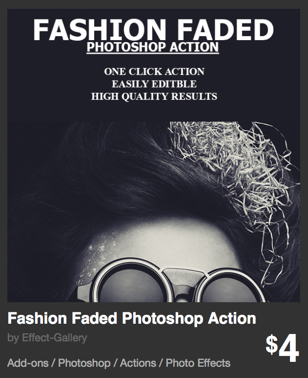 Fashion Faded Photoshop action