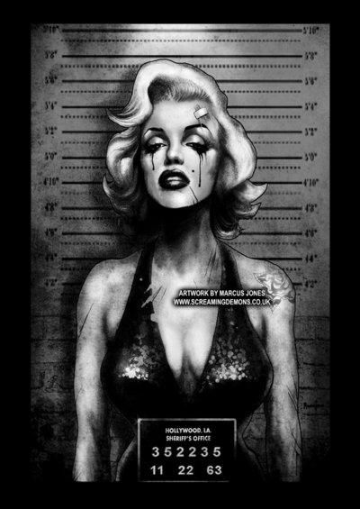 Marilyn Monroe Mugshot