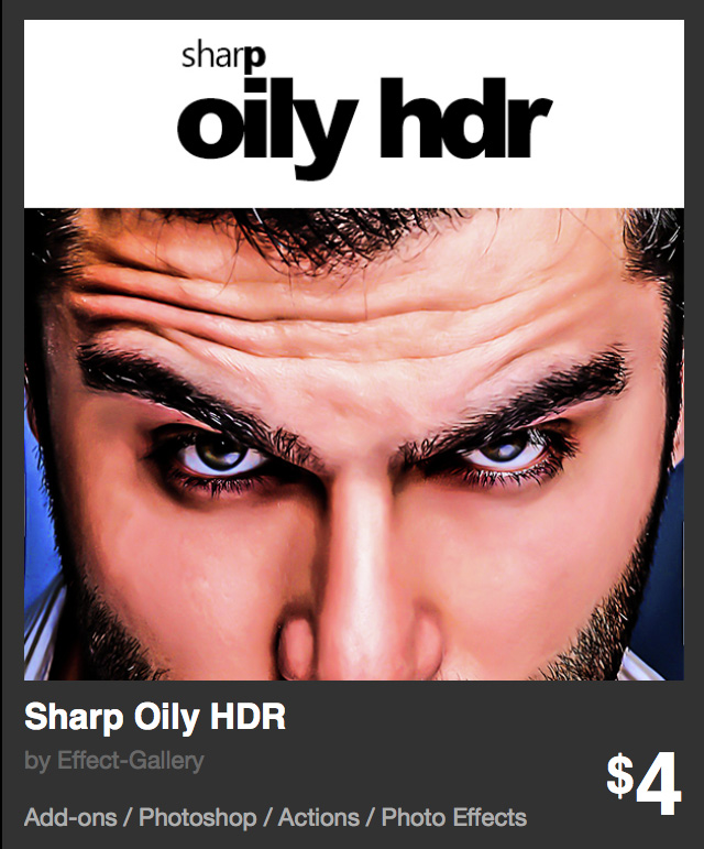 Sharp Oily HDR - Photoshop action - photo effects