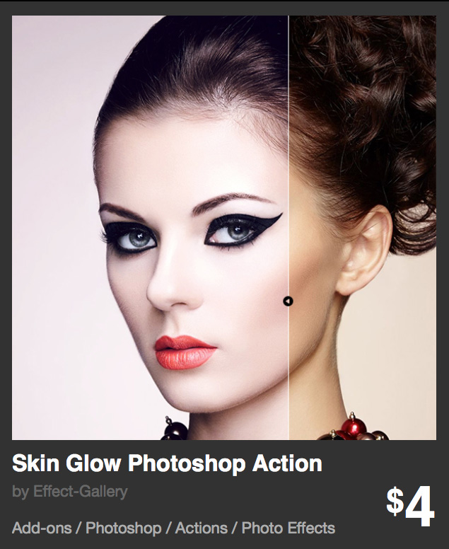 Skin Glow Photoshop action