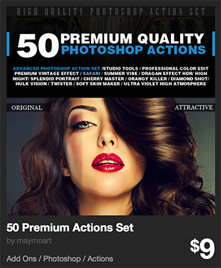 50 Premium Actions Set by maymoart | GraphicRiver