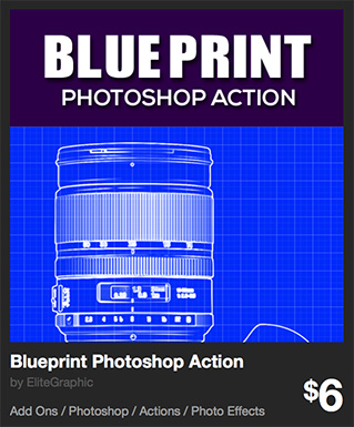 Blueprint Photoshop Action by EliteGraphic | GraphicRiver